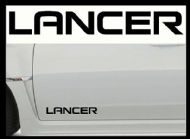 MITSUBISHI LANCER CAR BODY DECALS
